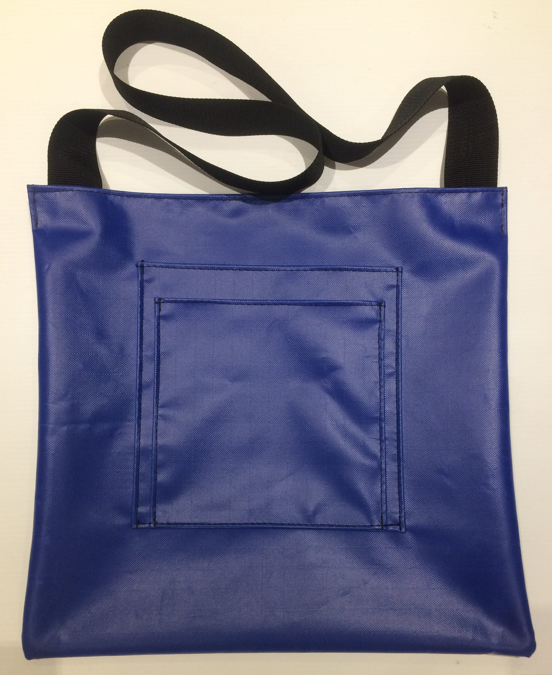 Wading/Fish Bag_Blue_Front with Flash