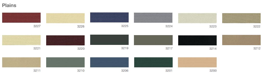 Defab Somerton Canvas Plain Colour Options