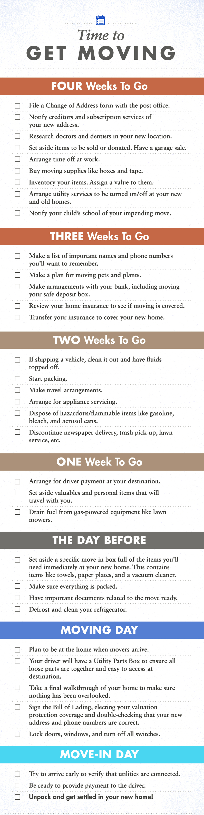 Moving-Checklist-Infographic-Florida Moving Checklist: 4 Week Countdown Orlando | Central Florida