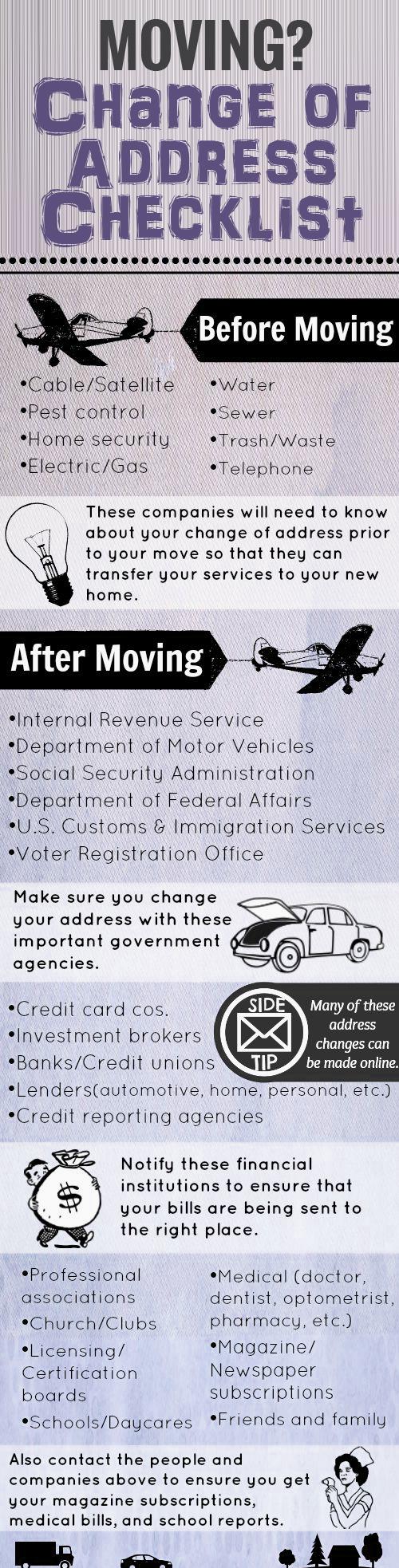 Moving-Change-of-Address-Checklist-infographic Moving? Change of Address Checklist Orlando   Central Florida