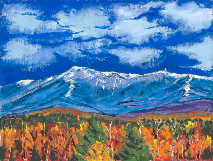 Belle McDougall, First Snow Mt Mansfield