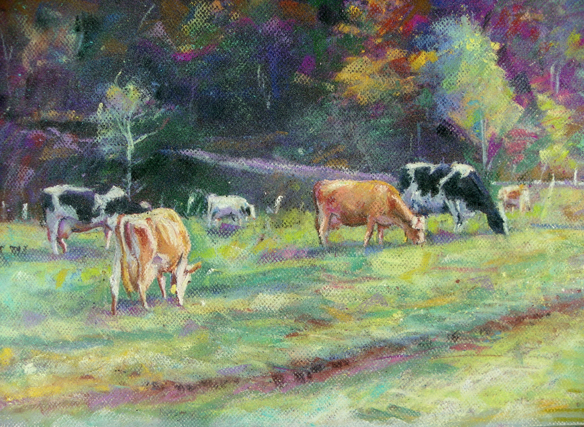 Cath Stockbridge, Cows In Back Field