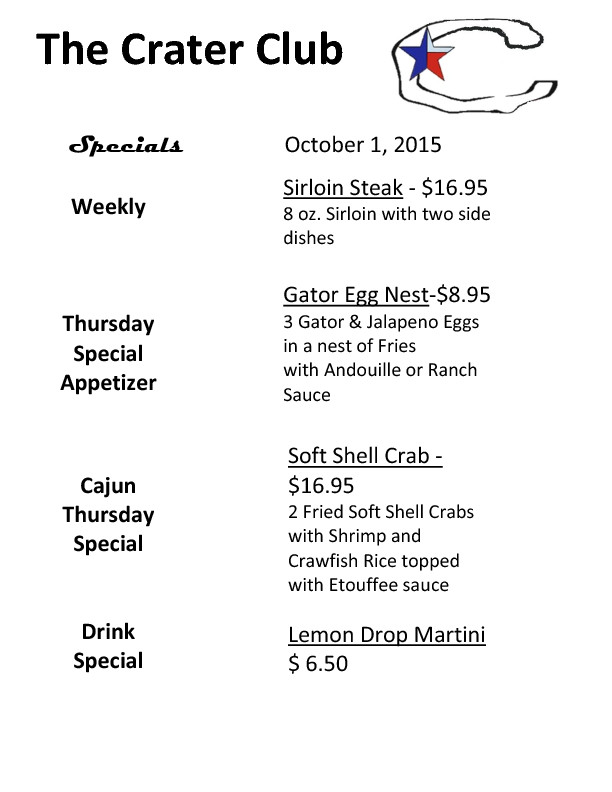 CC Weekly Specials Oct 2015