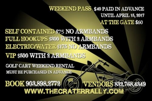 BIKE WEEK - May 2017 Crater Rally Flyer