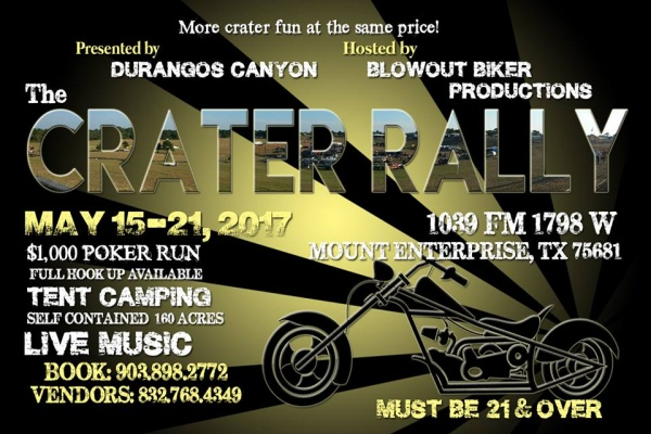 May 2017 East Texas Bike Week - Crater Rally