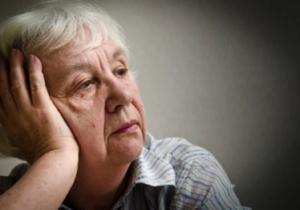 depressed older adult woman