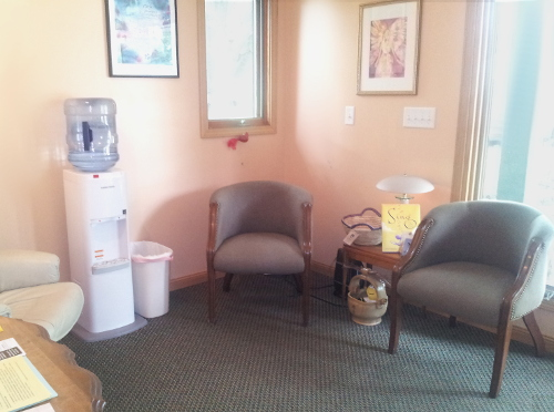 Reception area at Stillpointe Wellness Center