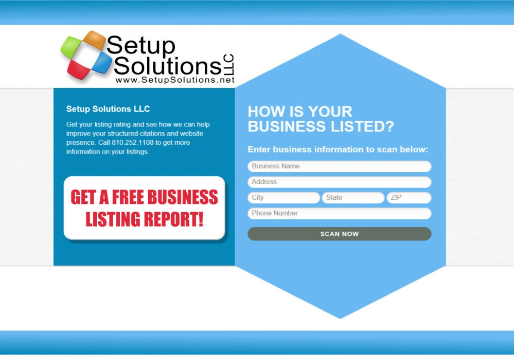 SEO Local Business Listing Report