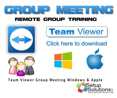 Group Meeting TeamViewer from Setup Solutions LLC
