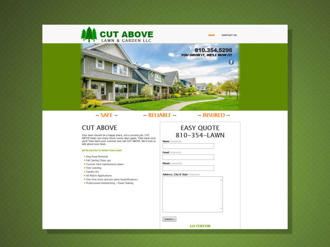Cut Above Lawn Care