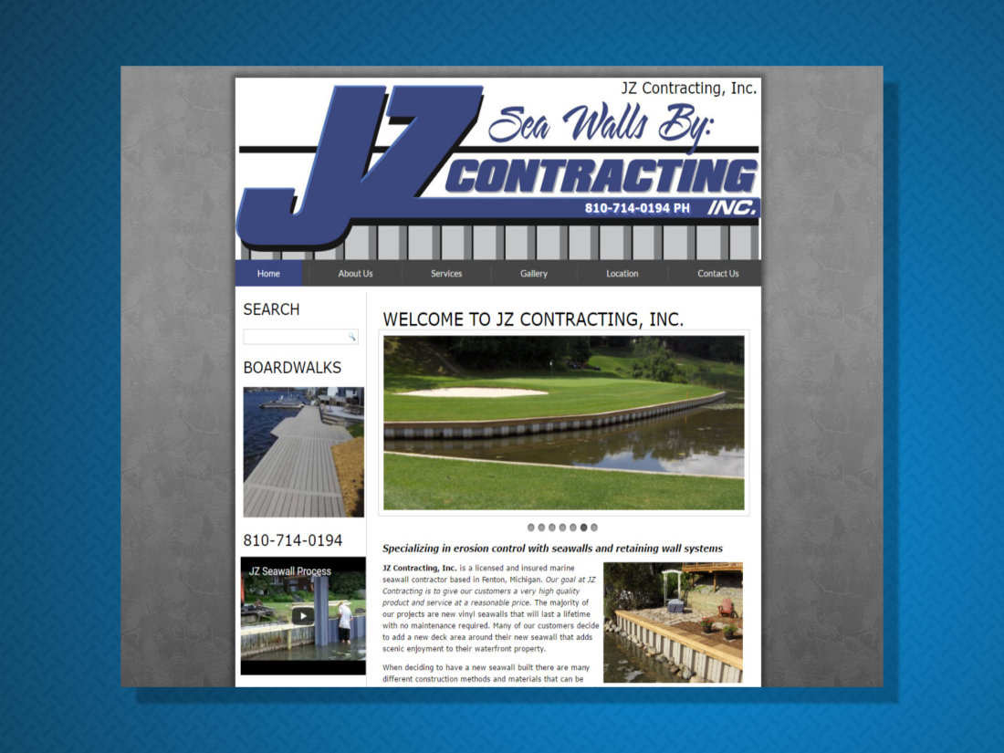 JZ Contracting Seawalls Mi