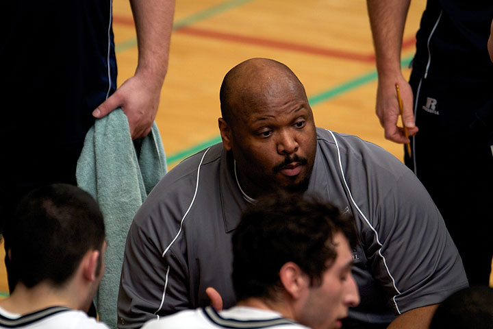 Coach Harrison during a time out