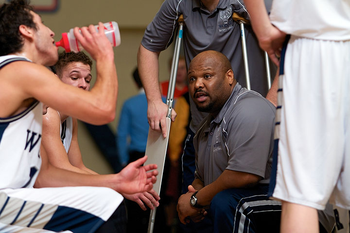Coach Harrison during another time out
