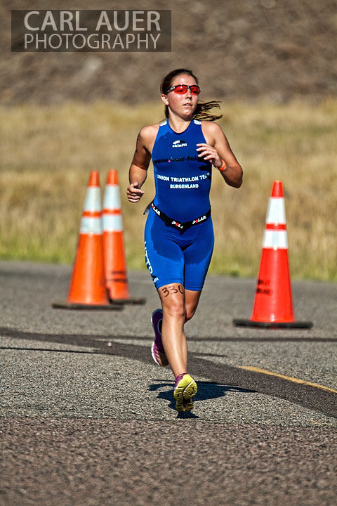 August 5th, 2012:  One of the many women who ran in Denver's Tri for the Cure triathlon.