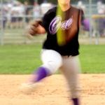 Slow Shutter Shot of Softball Pitcher