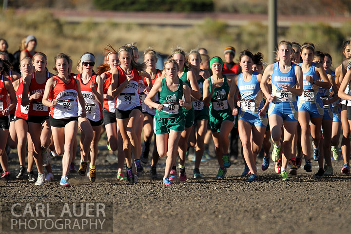 Girls Cross Country Start at NAAC in Arvada, CO