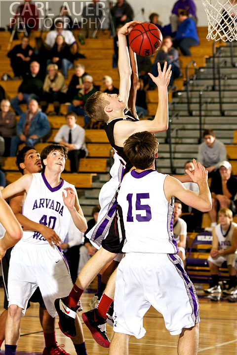 December 20, 2012: Pomona Panther sophomore Ryan Ward (35) attempts a shot in the game between Pomona and Arvada West on Thursday night at Arvada West High School.