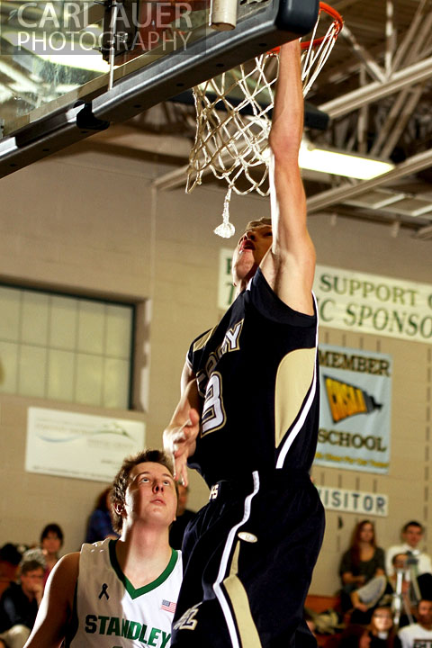 December 12, 2012: A Legacy High School Varsity basketball player goes up for a lay-up in his game against Standley Lake High School on Thursday night.
