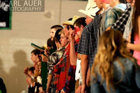 December 12, 2012: The Standley Lake student fans watch the action in the Gators game against Legacy on Thursday night.