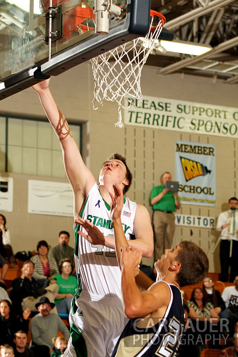 December 12, 2012: A Standley Lake player heads puts up a lay-up against Legacy on Thursday night.