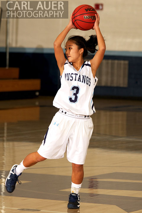 January 5th, 2013: A Ralston Valley player sets to pass the ball in the game against the Pomona Panthers at Ralston Valley High School.