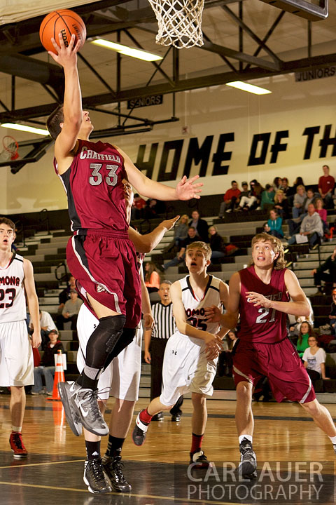 January 3rd, 2013: A Chatfield player elevates for a lay up in his game against the Pomona Panthers in Arvada, CO