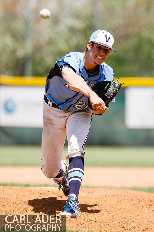 May 24, 2013 - Valor Christian senior pitcher Daniel Butler (20) delivers a pitch against the Durango Demons in the CHSAA 4A Semi-Final game at All-Star Park in Lakewood, Colorado