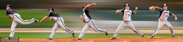 May 17th 2013: Fleming Wildcats senior pitcher Tyler Vandenbark (23) throws the ball in this photo illustration during the CHSAA 1A Baseball final against the Holly Wildcats at All Star Park in Lakewood, Colorado