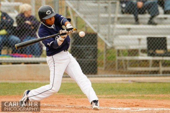 April 30th, 2013: Columbine Rebel junior Donny Ortiz (3) swings at a pitch in the game against the Ralston Valley Mustangs at Ralston Valley High School