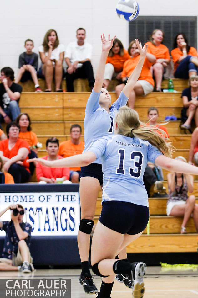 10 Shot - 2013 HS Volleyball - ThunderRidge at Ralston Valley