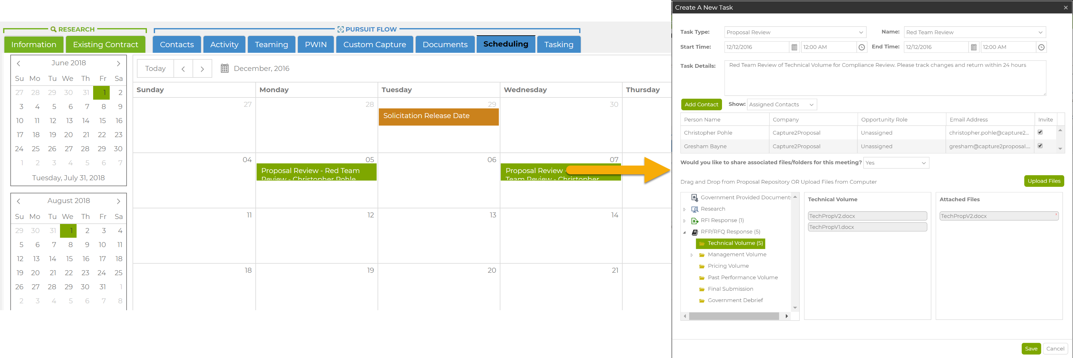 Creating a New Task in Capture2's Schedule Management Feature