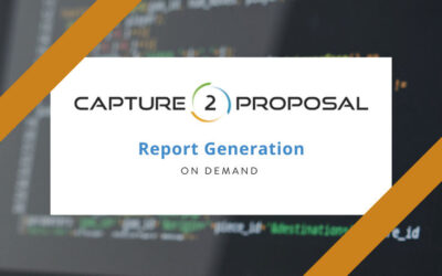 Automatically Generate Bid, Pursuit, Decision Gate Reports, & More