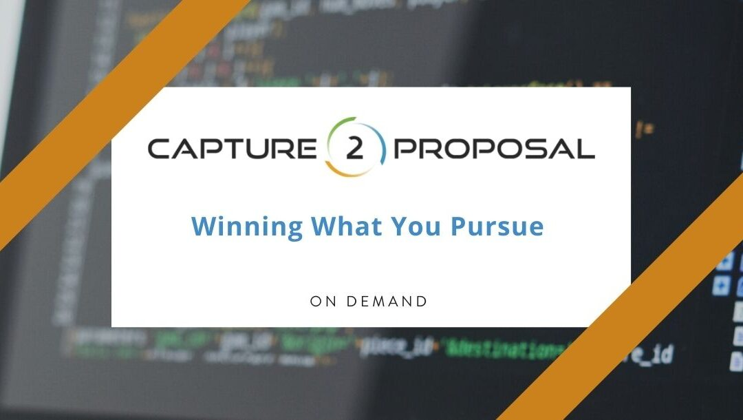 Winning What You Pursue Webinar – Watch Now!