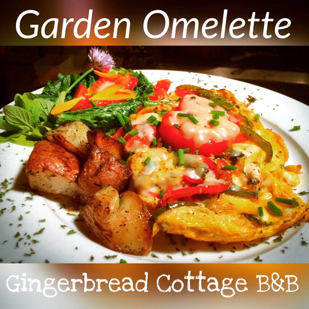 Victoria BC Bed and Breakfast Downtown Garden Omelette