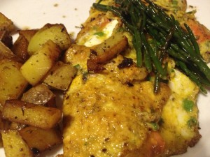 Lox Omelette with Salicornia