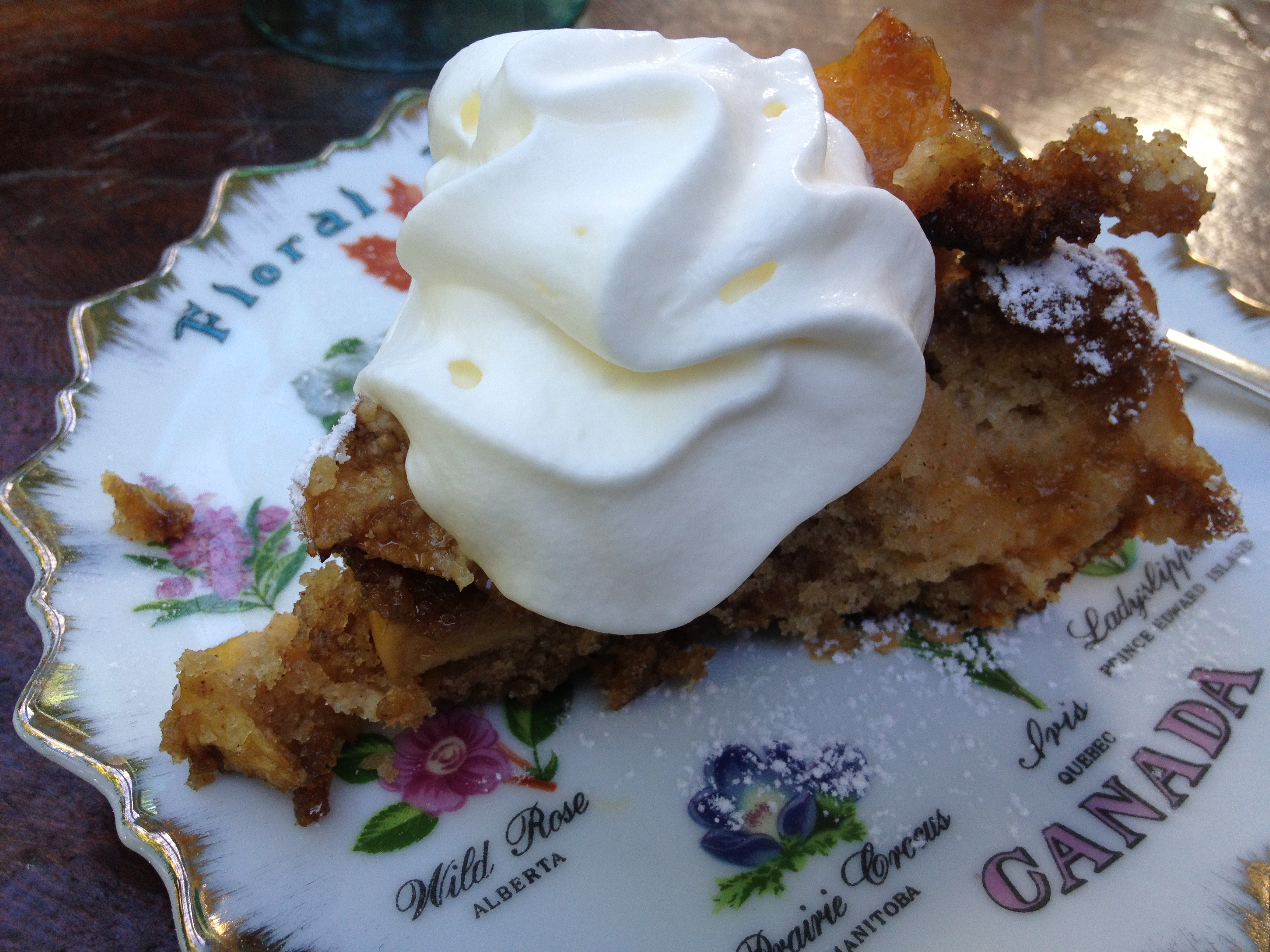 Breakfast Cake with Whipped Cream