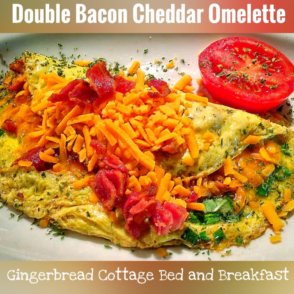 Bacon Cheddar Omelette du Fromage