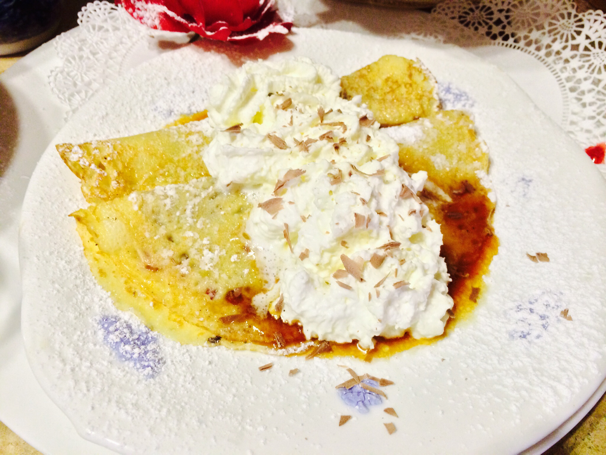 Viennese Crepes on the bed and breakfast menu