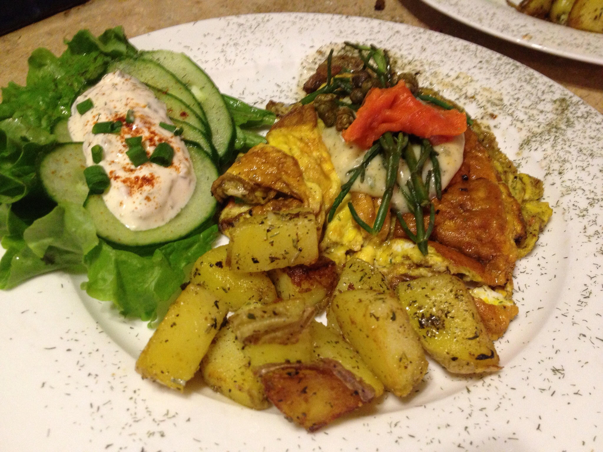 Lox omelette with Dill Béarnaise Sauce