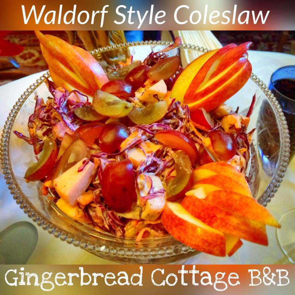 Waldorf salad coleslaw variation