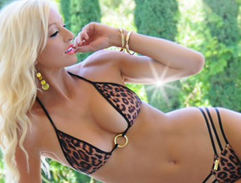 luxury swimwear leopard swimsuit