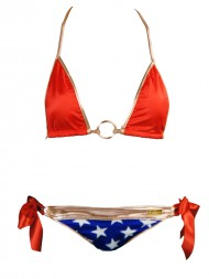 Wonder Woman Swimsuit American Flag Bikini