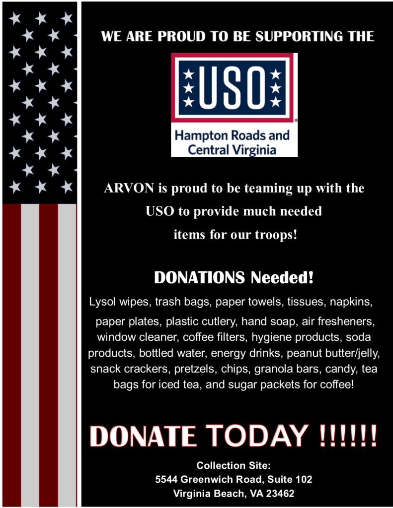 USO Donation Drive – Arvon Staffing