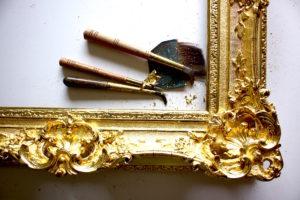 Rich and Davis Artisan Frame Makers freshly gilded ornamental frame restoration melbourne