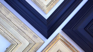 Rich and Davis Reeded Frames in Clay Bole and Water-Gilded Finishes