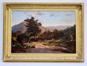 Hedingham custom frame water-gilt 23K gold melbournes best picture framers