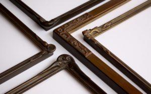Rich and Davis Small Ornamental Frames in Bronze Powder Finishes