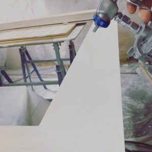 Rich and Davis Artisan Frame Makers Gesso Spraying