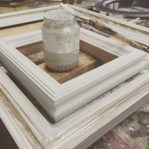 Rich and Davis Artisan Frame Makers Melbourne Hand Gesso Application