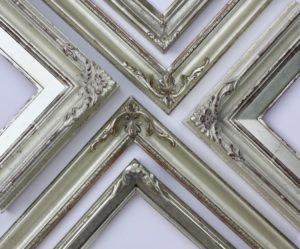 Rich and Davis Custom Bespoke Frames White Gold Ornamental Framemakers